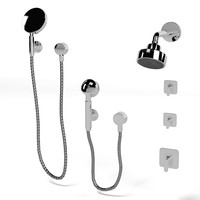 hansgrohe axor citterio Raindance  bathroom wall hand overhead small shower mixer  set